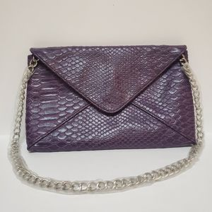 Purple Snakeskin Purse